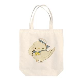 けいれい!(・◇・)ぴよ!(あお) Tote bags