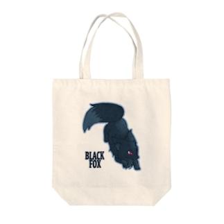 BLACK FOX Tote bags