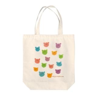 カラフルウゲロくま(ランダム) Tote bags