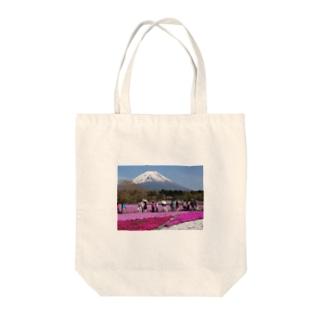 富士芝桜 Tote bags