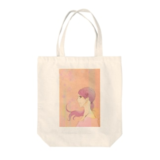 花・ピンク・女の子 Tote bags