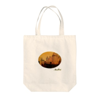 Taku SHIRAIの丸型Glorious Castle Tote bags