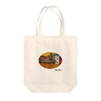 丸型レンガの街 Tote bags