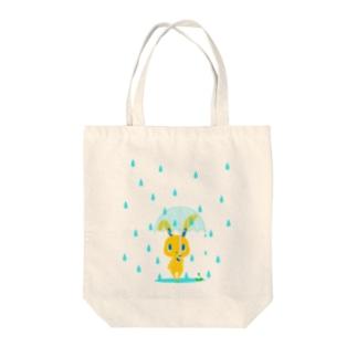 雨の日うさぎ トートバッグ