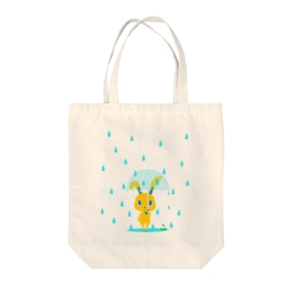 雨の日うさぎ Tote bags