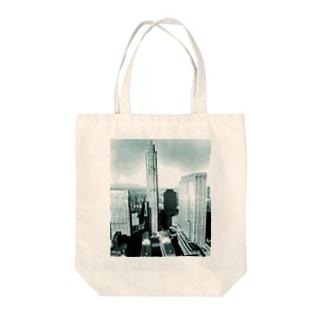 Berenice Abbott: Rockefeller Center from 444 Madison Avenue, New York, 1937 Tote bags