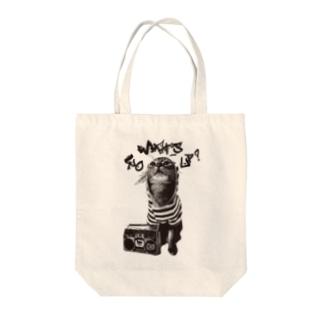 Nobigao ヒップホップキャット Tote bags