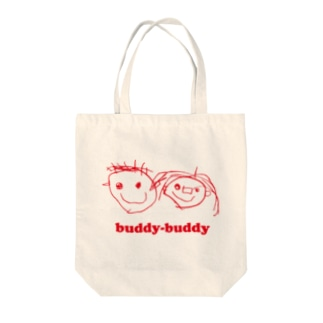 buddy-buddy Tote bags