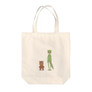 イタチとクマ Tote bags
