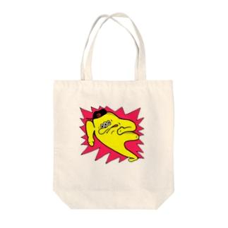 ぽっちょ Tote bags