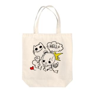 HELLO Tote bags