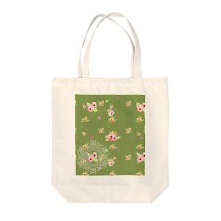 flower ドイリー Tote bags