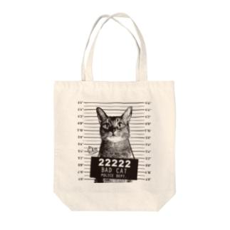 Nobigao 猫マグショット Tote bags