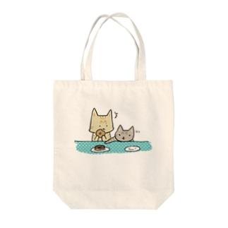 おちびとチャトニャン(ドーナツ) Tote bags