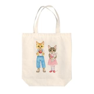 おちびとチャトニャン(水彩) Tote bags