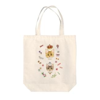 おちびとチャトニャン(おめかし) Tote bags