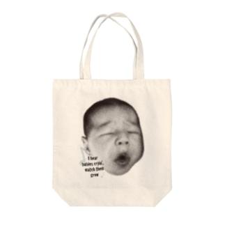 歌うBABY Tote bags