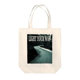 LIGHT YOUR WAY Tote bags