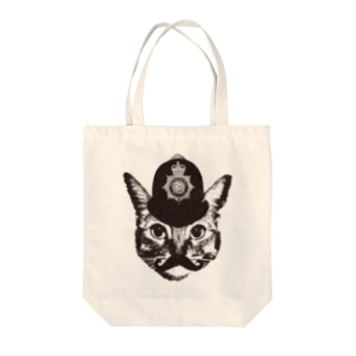 Nobigao ボビーキャットポリス Tote bags