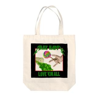 Love 'em all Tote bags