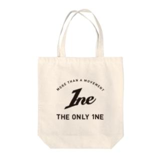 1ne logo print トートバッグ