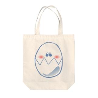 フェイスエッグ Tote bags