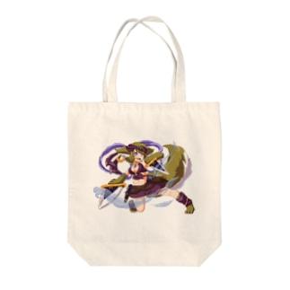 アップルのケモノ少女 Tote bags