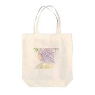 藤の花 トートバッグ