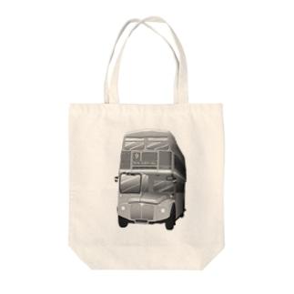 ロンドン二階建てバス Tote bags