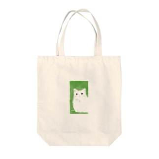 001.cat-white Tote bags