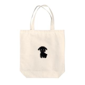 002.dog-black Tote bags