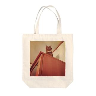 文豪キャット Tote bags
