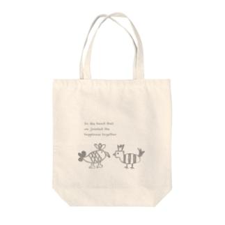 Laatikko∞Tのとり Tote bags
