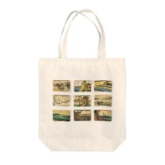 広重-2 Tote bags