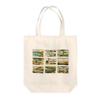 北斎-2 Tote bags
