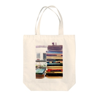 book tower Tote bags