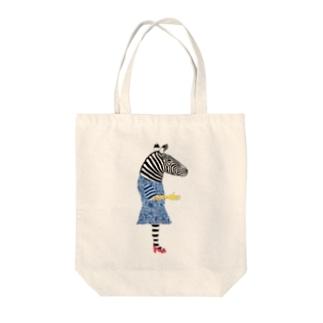 シマウマ Tote bags