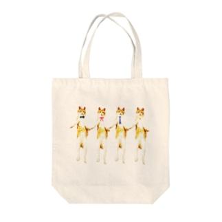 猫の行進 Tote bags