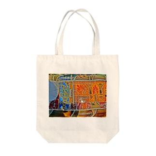 旅先の花タイル Tote bags