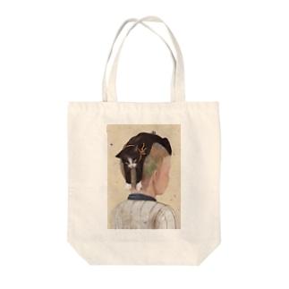 港で噂のネコヘアー(高校野球男児の場合) Tote bags