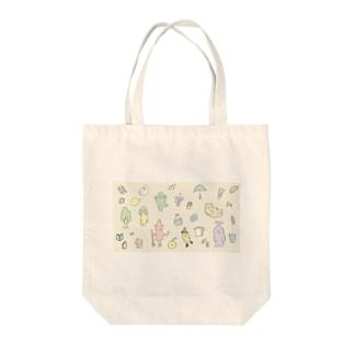 春の思いつき Tote bags