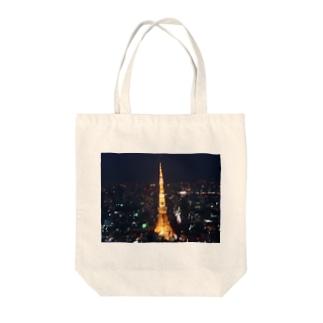 ちょいぼけ東京タワー Tote bags