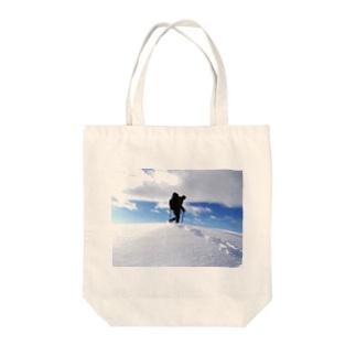 谷川の山嶺 Tote bags
