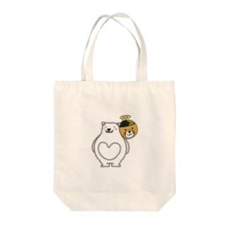 蒸しパンのバンダナしゃん(透明) Tote bags