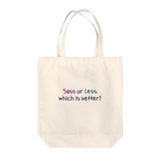 Sass or Less Tote bags