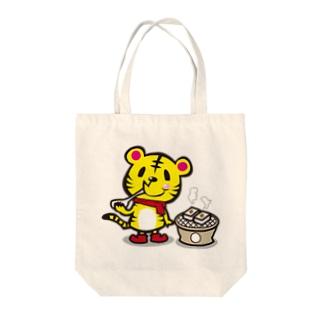 トラ×お餅 Tote bags