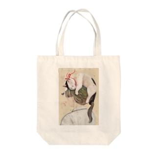 港で噂のネコヘアー(女子中学生の場合)  Tote bags