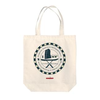 琉球伝統帆掛鱶舟帆漕馬鹿:紋章1 Tote bags