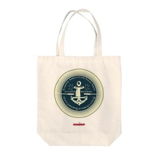 琉球伝統帆掛鱶舟帆漕馬鹿:紋章3 Tote bags