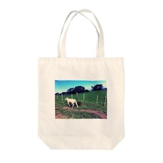 小走り羊ちゃんシリーズ Tote bags